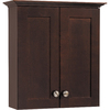 Style Selections Longshire 20-in W x 21.75-in H x 7.5-in D Espresso Bathroom Wall Cabinet
