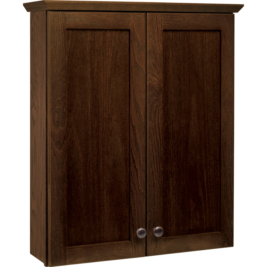 Shop style selections liberton cocoa wall cabinet common for Cocoa cabinets