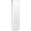 Project Source 20-in W x 82.5-in H x 21.5-in D White Particleboard Wall-Mount Linen Cabinet