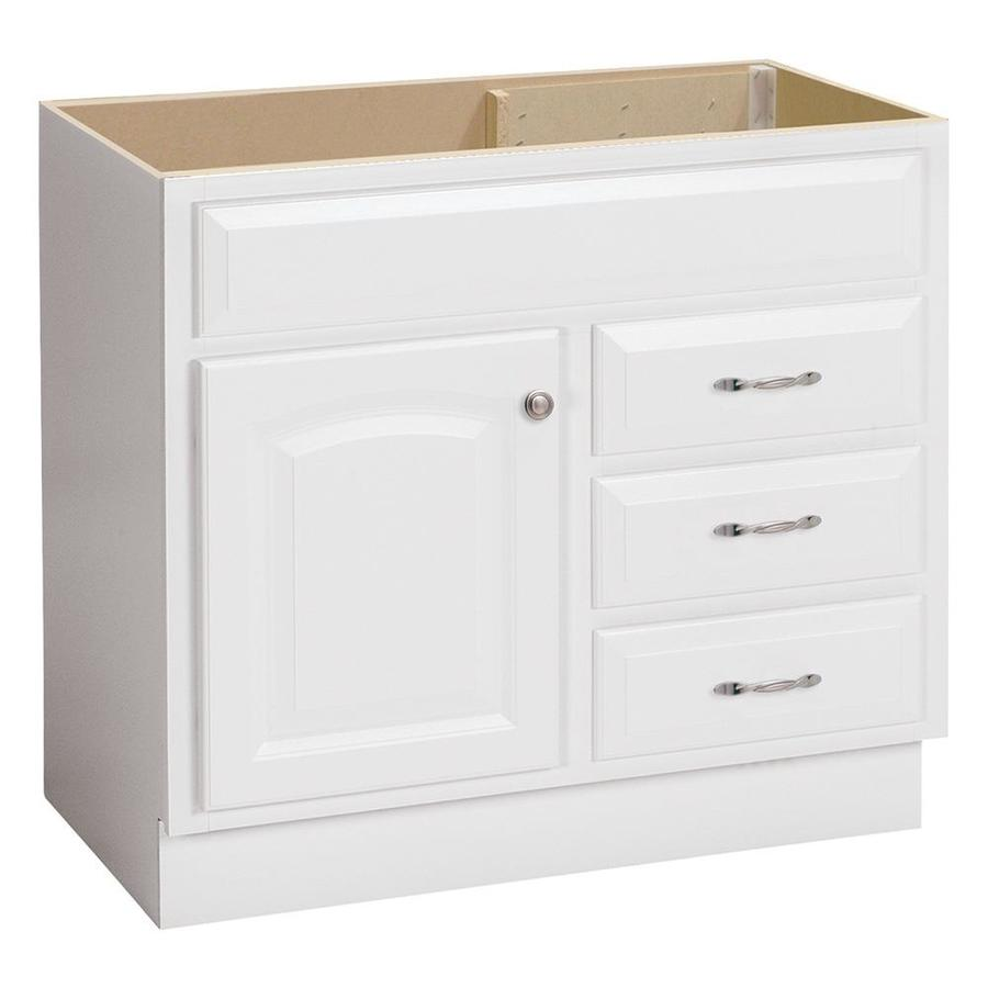 Shop project source white traditional bathroom vanity for Bathroom 36 vanities