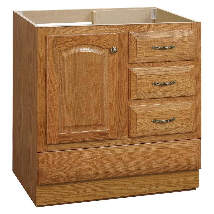 Shop Project Source Oak Traditional Oak Bathroom Vanity