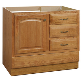 in Oak Traditional Bathroom Vanity V28037PS ~ Oak Bathroom Furniture