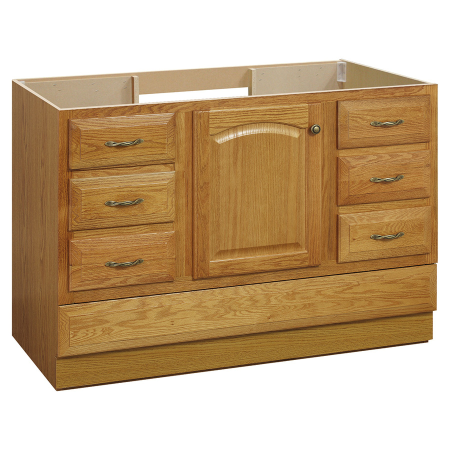 Project Source 48quot; Oak Elegance Traditional Bath Vanity at Lowes.com