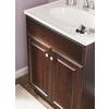 Project Source Java Integral Single Sink Bathroom Vanity with Cultured Marble Top (Common: 25-in x 19-in; Actual: 24.5-in x 18.5-in)