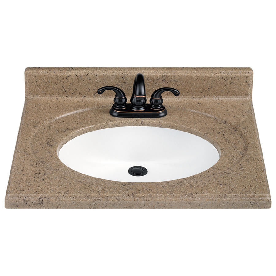 Shop estate by rsi 25 w x 22 d kona vanity top at for Bathroom vanity tops