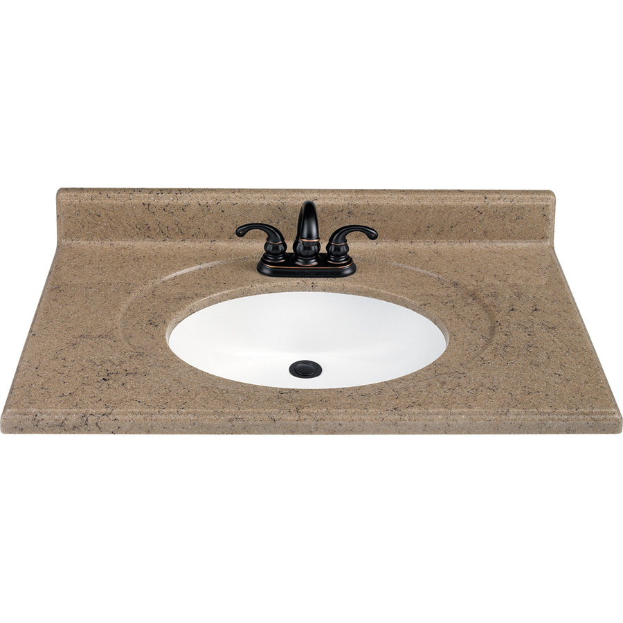 Solid Surface Vanity Tops with Integral Sink