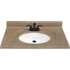 Style Selections 37-in W x 22-in D Kona Kona Single Sink Vanity Top
