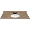Style Selections 49-in W x 22-in D Kona Kona Single Sink Vanity Top