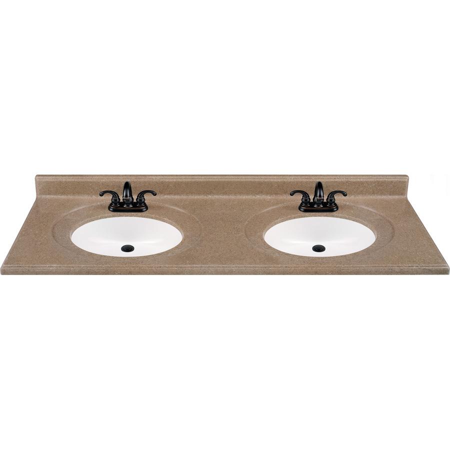 Vanity Top Double Sink : Selections Kona Solid Surface Integral Double Sink Bathroom Vanity Top ...