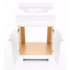 Style Selections Ellenbee White Integral Single Sink Bathroom Vanity with Cultured Marble Top (Common: 25-in x 19-in; Actual: 25-in x 18.5-in)