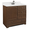 Project Source Bark Traditional Bathroom Vanity (Common: 36-in x 22-in; Actual: 36-in x 21-in)