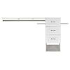 ESTATE by RSI 9-ft x 3-ft White Wood Closet Kit