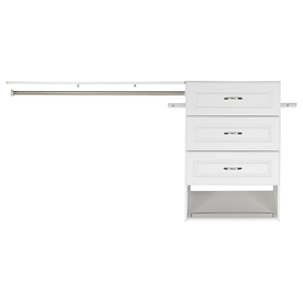 Shop ESTATE by RSI 9.5-ft x 3-ft White Wood Closet Kit at Lowes.com