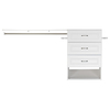 ESTATE by RSI 9.5-ft x 3-ft White Wood Closet Kit