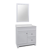 White Integral Single Sink Bathroom Vanity with Cultured Marble Top (Common: 36-in x 18-in; Actual: 36.5-in x 18.75-in)