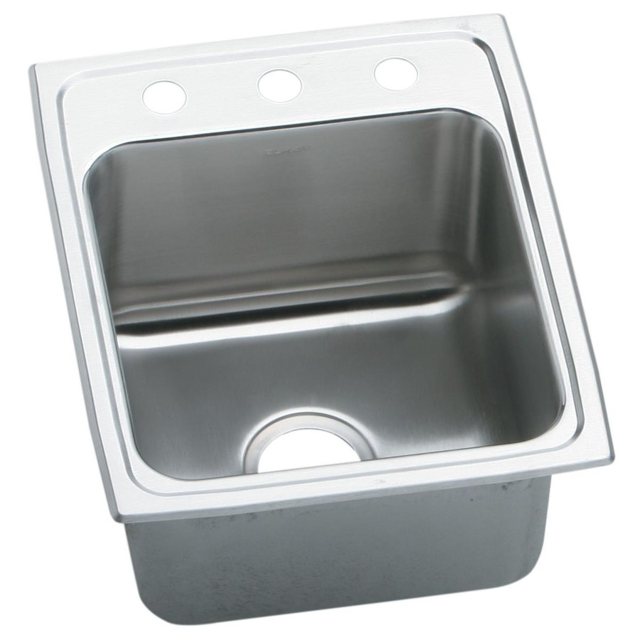 ... -Gauge Single-Basin Drop-In Stainless Steel Kitchen Sink at Lowes.com
