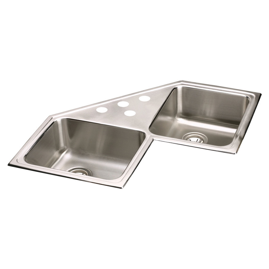 Elkay Stainless Steel Kitchen Sinks : ... 33-in Stainless Steel Double-Basin Drop-in Kitchen Sink at Lowes.com