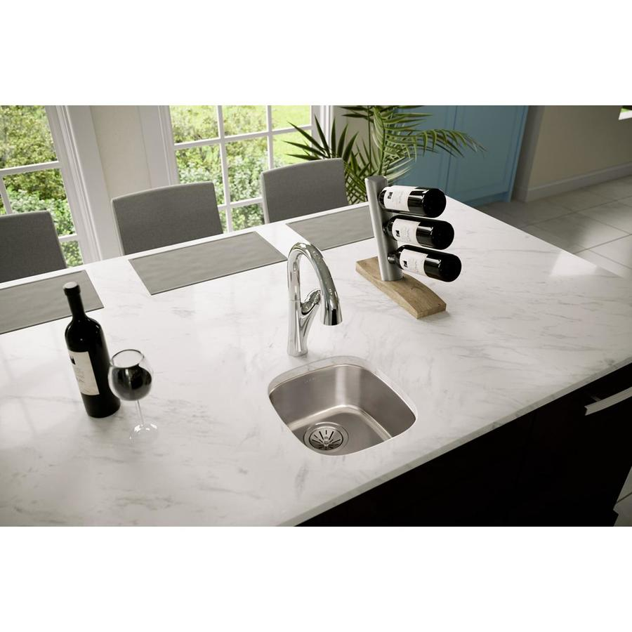 Elkay Stainless Steel Kitchen Sinks : Elkay Lustrous Highlighted Satin Single-Basin Stainless Steel Kitchen ...