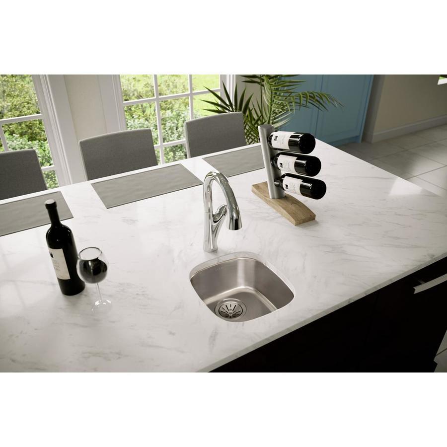 Elkay Lustrous Highlighted Satin Single-Basin Stainless Steel Kitchen ...