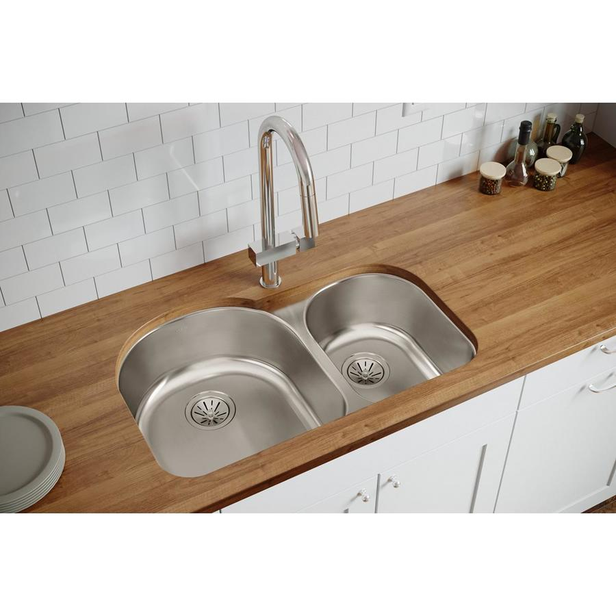 Elkay Stainless Steel Kitchen Sinks : ... -in Stainless Steel Double-Basin Undermount Kitchen Sink at Lowes.com