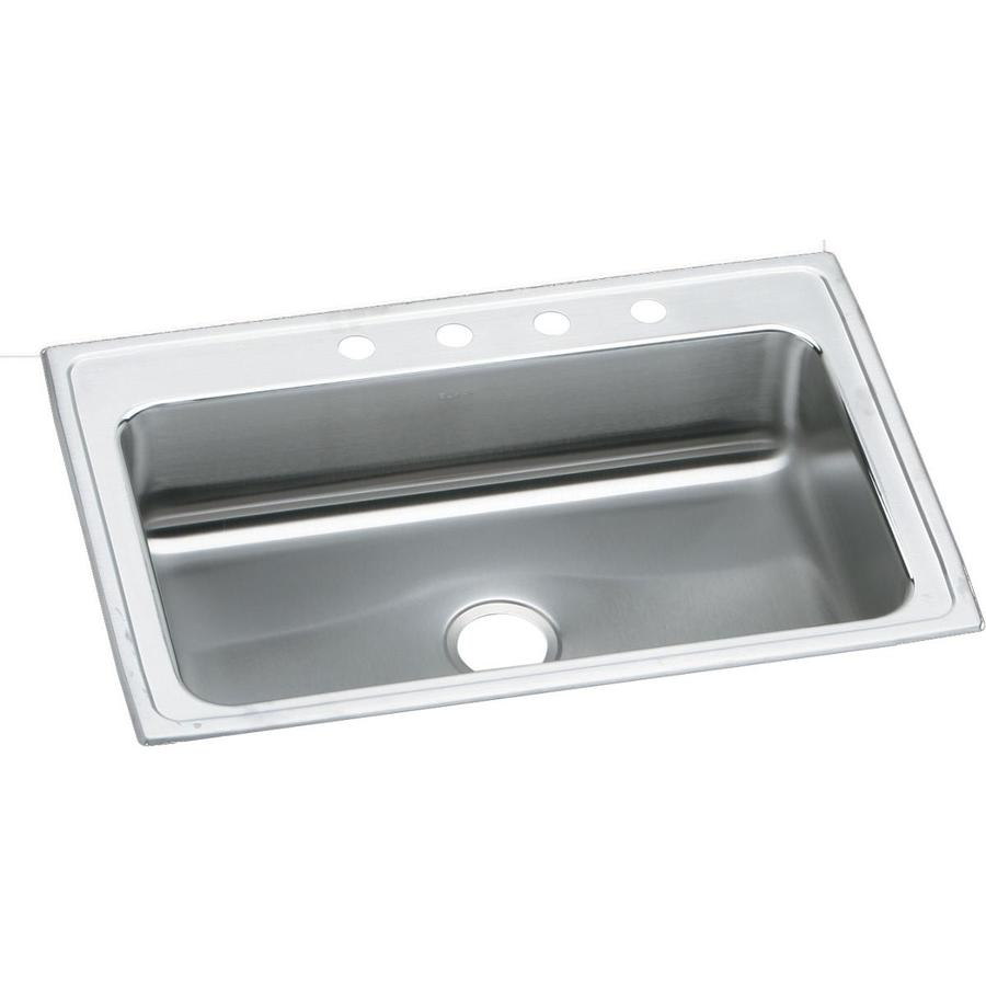 Drop In Sinks For Kitchen : ... Highlighted Satin Single-Basin Drop-In Kitchen Sink at Lowes.com