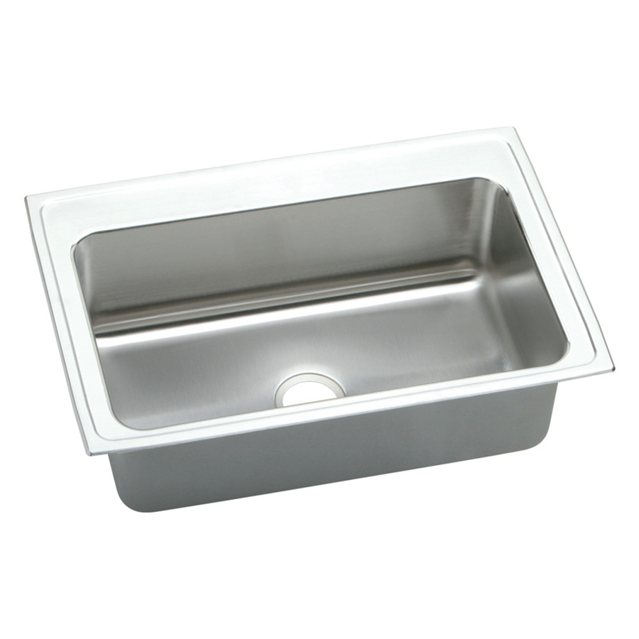 ... Elkay Single-Basin Drop-In Stainless Steel Kitchen Sink at Lowes.com