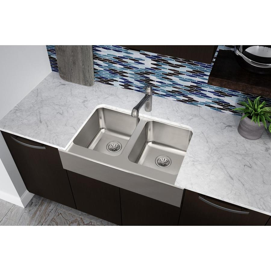 ... Basin Apron Front/Farmhouse Stainless Steel Kitchen Sink at Lowes.com