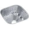 Elkay Gourmet Hammered Mirrored Single-Basin Stainless Steel Residential Bar Sink