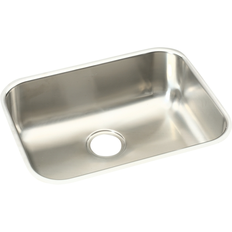 Elkay Stainless Steel Kitchen Sinks : ... in elkay gourmet single basin undermount stainless steel kitchen sink