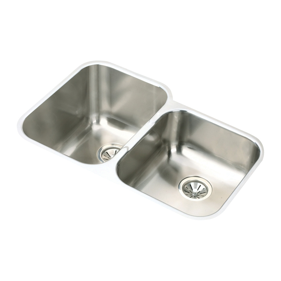 Elkay Stainless Steel Kitchen Sinks : ... in elkay gourmet 18 gauge 2 undermount stainless steel kitchen sink