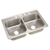 Elkay Tradition Double-Basin Drop-In Stainless Steel Kitchen Sink