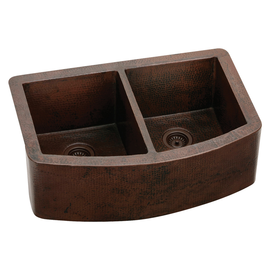 Lowes Farmhouse Sink : ... Hammered Double-Basin Apron Front/Farmhouse Kitchen Sink at Lowes.com