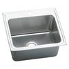 Elkay 22-in x 25-in Lustertone Self-Rimming Stainless Steel Laundry Sink Utility Sink