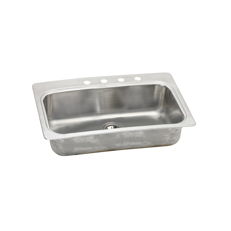 Shop Elkay 22-in X 33-in Stainless Single-Basin Drop-in Or