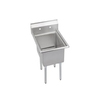 Elkay 29.8-in x 50.5-in Buffed Satin Freestanding Stainless Steel Utility Tub Utility Sink with Drain