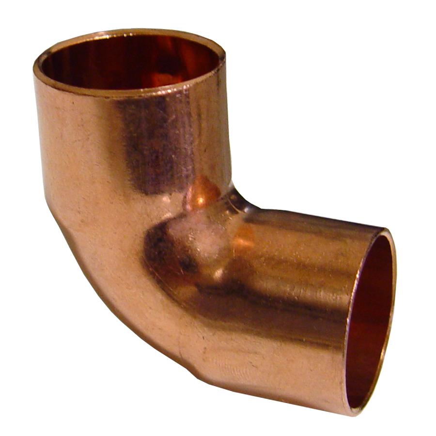Shop in dia degree copper elbow
