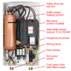 AquaPower AQE 8/10 240-Volt 9.6-kW 1-Year Limited Commercial/Residential Tankless Electric Water Heater
