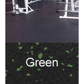 Amorim Rubber 4' x 10' Mat Flooring (Color: Black With Green Flecks)