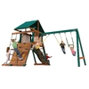 Heartland Captain's Loft Wood Playset with Swings