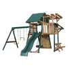 Heartland Playsets Captains Loft C Residential Wood Playset with Veranda (Sunbrella Green Canopy)