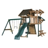 Heartland Playsets Captains Loft C with Veranda Residential Wood Playset (Sunbrella Confier Hemlock Canopy)
