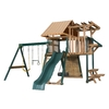 Heartland Playsets Captains Loft C Residential Wood Playset with Veranda (Sunbrella Weston Ginger Canopy)