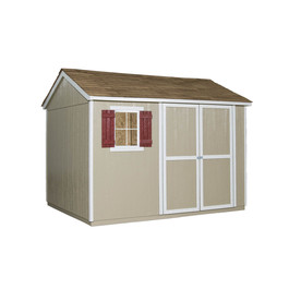 Shed (Common: 10-ft x 8-ft; Interior Dimensions: 9.46-ft x 7.58-ft