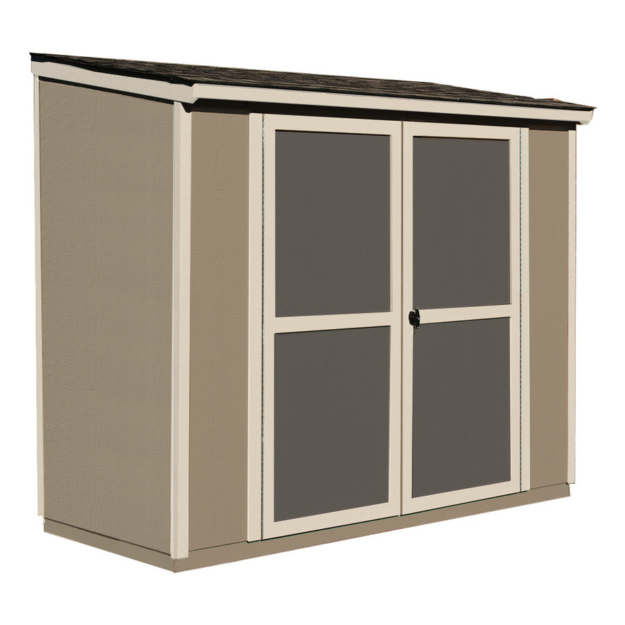 Shop Heartland Scottsdale Lean-To Engineered Wood Storage Shed (Common