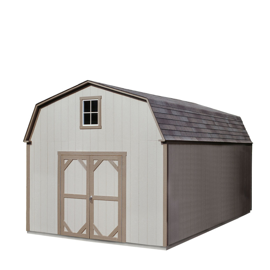 Shop heartland country manor 12 ft x 20 ft gambrel wood for Heartland sheds