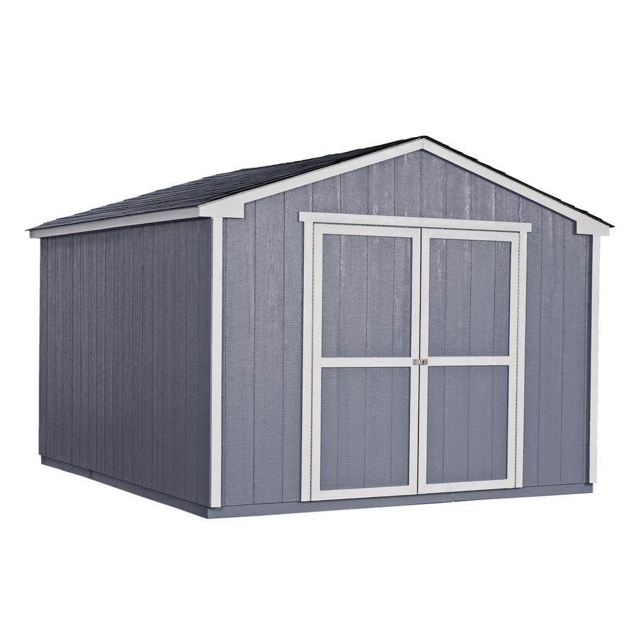 Shop Heartland Liberty Gable Engineered Wood Storage Shed (Common: 10 ...