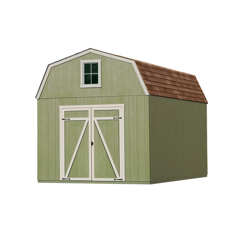 Shop heartland estate gambrel engineered wood storage shed for Wood storage shed