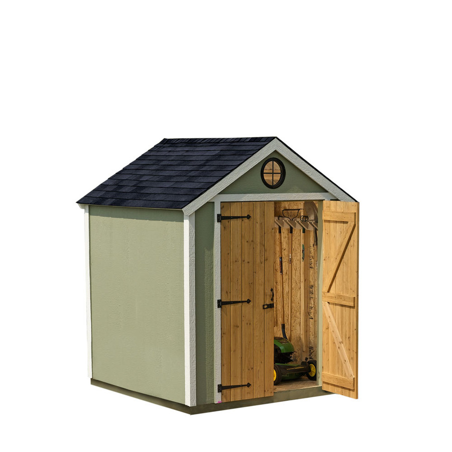 Shop heartland diy garden shed 6 x 6 wood storage building for Outdoor wood shed