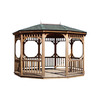 Heartland Bayview 10' x 14' Oval Gazebo With Floor