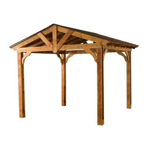 Lowes DIY Heartland Pasadena Pavilion Wood Pergola Pergolas Structures